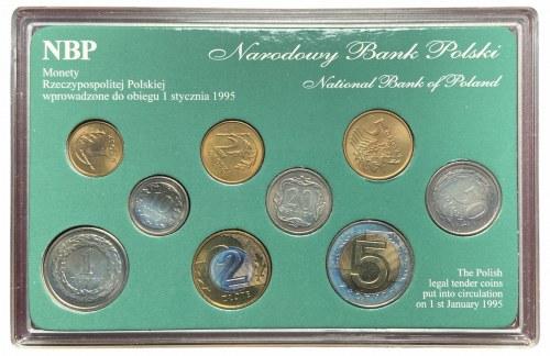 Zestaw monet podenominacyjnych (9 sztuk monet) - w tym 2 złote 1994 -