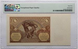 10 złotych 1940 - seria L. - WWII London Counterfeit - PMG 65 EPQ