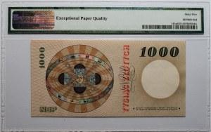 1000 złotych 1965 - lubiana seria A - PMG 65 EPQ