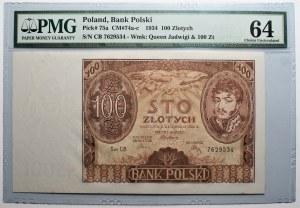100 złotych 1932 - CB. - PMG 64