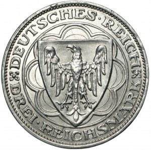 NIEMCY - Weimar - 3 marki 1927 - A - 100 lecie portu w Bremie