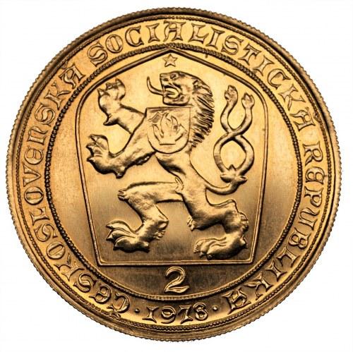 CZECHOSŁOWACJA - 2 dukaty 1978 - złoto