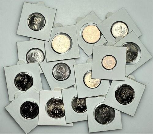 PRL - 15 sztuk monet w holderach (1949-1984) - mennicze