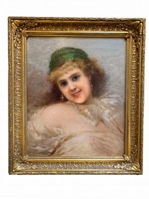 Malarz nieznany, Portret kobiety (XIX w.)