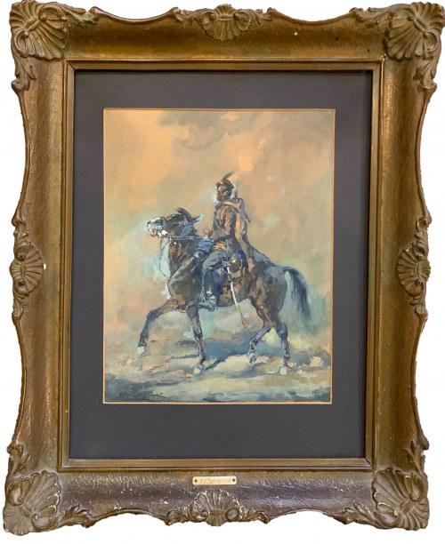 Jerzy Kożuchowski (1893 - 1967), Ułan na koniu
