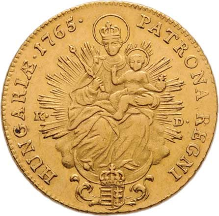 Marie Terezie, 1740 - 1780, 2 Dukát 1765 KB/KD, Kremnica, N.70, Husz.1649,