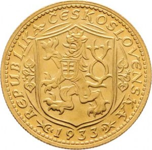 Československo, období 1918 - 1939, Dukát 1933 (raženo 57.597 ks), 3.492g