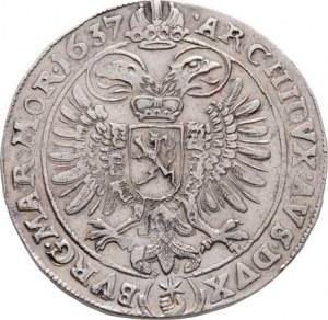 Ferdinand II., 1619 - 1637 (Mince dobrého zrna), Tolar 1637, Praha-Wolker, J.70, podobný jako