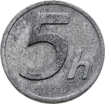 Slovenská republika, 1939 - 1945, 5 Haléř 1942, KM.8 (zinek), 0.955g, nep.hr.,