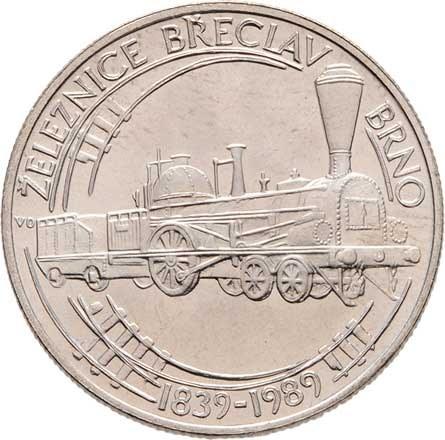 Československo 1961 - 1990, 50 Koruna 1989 - 150 let železnice Břeclav-Brno,
