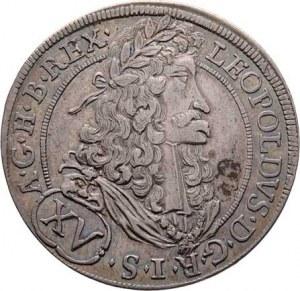 Leopold I., 1657 - 1705, XV Krejcar 1691, Hall, Höll.91.2.1, Nech.2419,