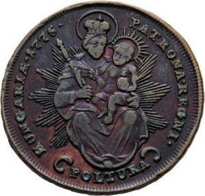 Marie Terezie, 1740 - 1780, Cu Poltura 1775 S, Smolník, N.97, Husz.1754, 16.895g,