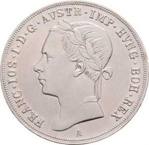 Konvenční měna, údobí let 1848 - 1857, 1/2 Tolar 1849 A - hlava zleva, 13.978g, dr.hr.,