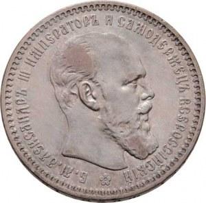 Rusko, Alexandr III., 1881 - 1894, Rubl 1893 AG, Petrohrad, Y.46 (Ag900), 19.883g,