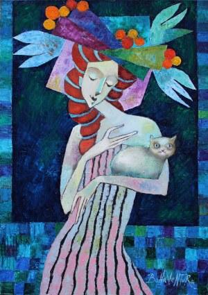 Jan Bonawentura Ostrowski, Dziewczyna z kotem, 2020