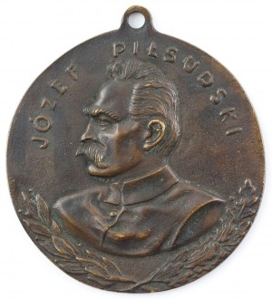 PLAKIETA, JÓZEF PIŁSUDSKI, Polska, ok. 1916