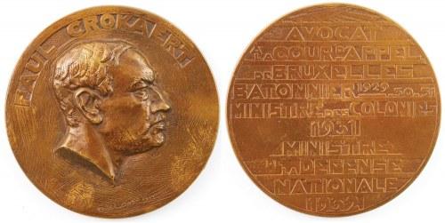 MEDAL, PAUL CROCAERT, 1932