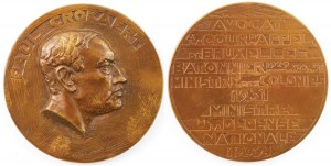 MEDAL, PAUL CROCAERT, 1932