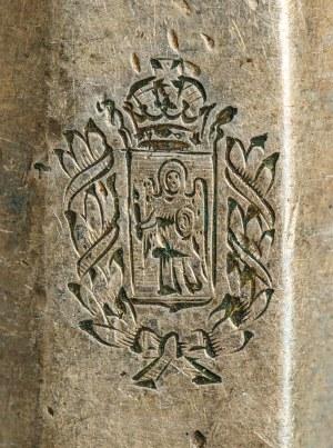 SZEŚĆ NOŻY Z HERBEM GUBERNI KIJOWSKIEJ, Polska, Warszawa, Norblin, 1896 -1914