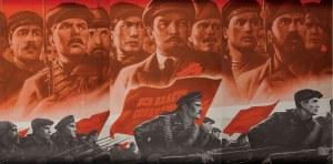 Plakat, REWOLUCJA PAŹDZIERNIKOWA, ZSRR, ok. 1980