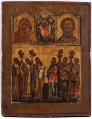 IKONA CZTEROPOLOWA, Rosja, XVIII w.