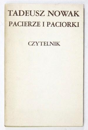 NOWAK Tadeusz - Pacierze i paciorki. Wyd. I