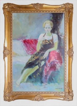 A. EDMUND, XX / XXI w., Modelka w atelier