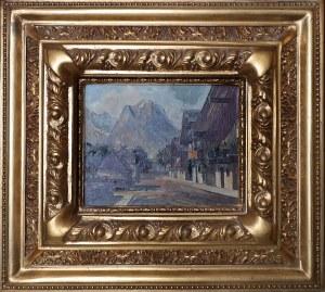 Erica RICHTER (1869 - ?), Pejzaż górski (Alpejskie miasteczko), 1911