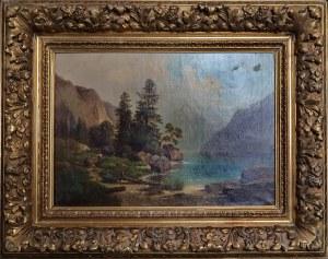 Malarz nieokreślony, XIX w., Pejzaż górski, 1862