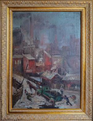 Malarz nieokreślony, XX w., Pejzaż miejski