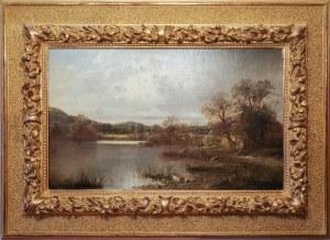 GERANGER, XIX w., Pejzaż z rzeką