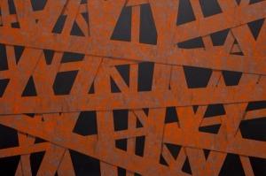 Tomasz Mistak (1978), Perforated Corten Steel Plate (2015)
