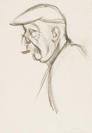 Henryk BERLEWI (1894-1967), Portret starszego mężczyzny z profilu, 1912