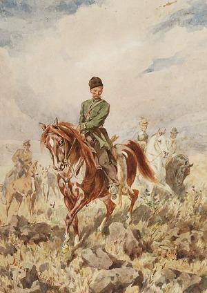 Juliusz KOSSAK (1824-1899), Polowanie na zająca, 1879