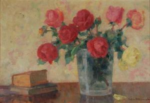 Zofia ALBINOWSKA-MINKIEWICZOWA (1886-1971), Róże i książki