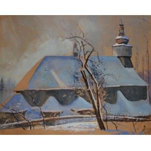 Julian Fałat (1853-1929) Kościół w śniegu