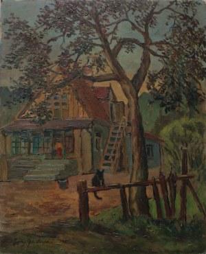 Jerzy Gnatowski (1929-2012) Kot przed domem