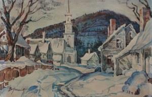 Bronisław Jamontt (1886-1957) Widok miasteczka zimą