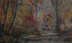 Emil Ukleja (1902-1975) Pejzaż leśny z wodą