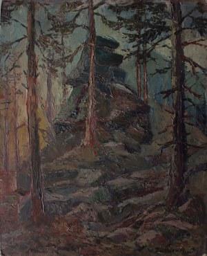 Włodzimierz Zakrzewski (1916-1992) Skały w lesie