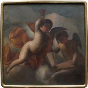 A.N. (II poł.XIX w.) Sceny alegoryczne z puttami-para obrazów