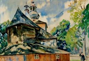 Julian FAŁAT (1853-1929), Kościół w Mikuszowicach, 1913 r.