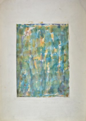 Krystyna PELLETIER (1914-2007), Kompozycja turkusowa, 19560