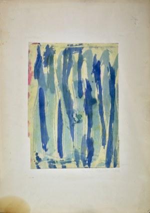 Krystyna PELLETIER (1914-2007), Kompozycja zielono-niebieska, 1960