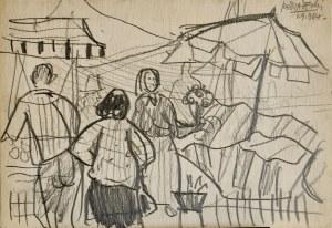 Kazimierz PODSADECKI (1904 – 1970), Scena rodzajowa, 1964