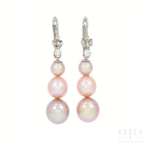 A pair of drop earrings
