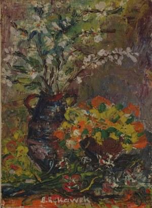 Barbara RĘKAWEK, XIX / XX w., Martwa natura z kwitnącymi gałązkami