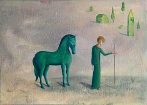 Paweł PISKOZUB, Zielony koń, 2021 r.