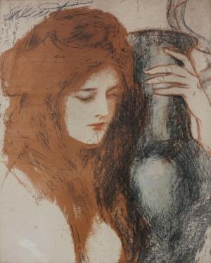 Teodor Axentowicz (1859-1938), Kobieta z wazonem (1903)