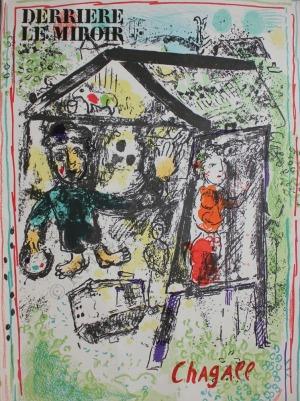 "Marc Chagall (1887-1985), Malarz w wiosce(Okładka ""Derriere le Miroir"" no.182, 1969, Mourlot #603)"